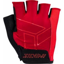 Pánské cyklo rukavice Silvini Liro MA1444 Velikost rukavic: M / Barva: červená