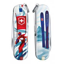 Kapesní nůž Victorinox Classic LE Ski Race Barva: bílá