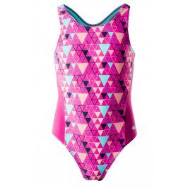 Dívčí plavky Aquawave Binita JR Dětská velikost: 158 / Barva: růžová