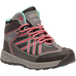 Dětské boty Regatta Samaris Mid Jnr Velikost bot (EU): 36 / Barva: šedá/růžová