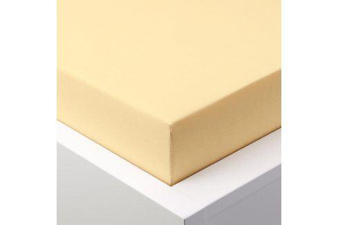 Hermann Cotton Napínací prostěradlo jersey EXCLUSIVE světle žlutá 180 x 200 cm Prostěradla
