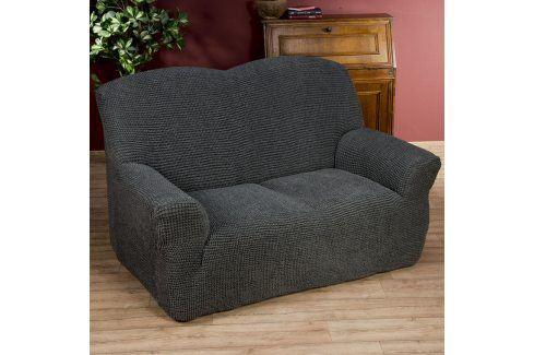 Nueva Textura decoDoma napínací potahy na sedací soupravu strečový GLAMOUR šedé na sedačku - trojkřeslo 180 - 220 cm Přehozy