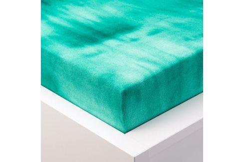 Hermann Cotton batikované napínací prostěradlo froté zelené 90 - 100 x 200 cm Prostěradla froté