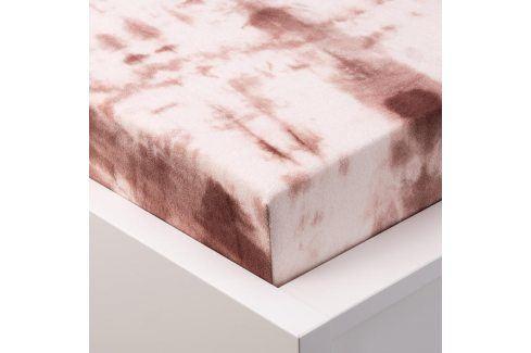 Hermann Cotton batikované napínací prostěradlo froté béžové 90 - 100 x 200 cm Prostěradla froté