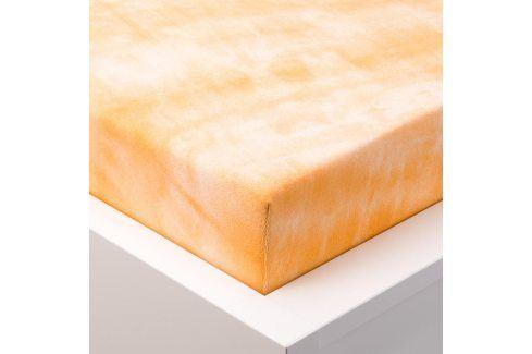 Hermann Cotton batikované napínací prostěradlo froté oranžové 90 - 100 x 200 cm Prostěradla froté