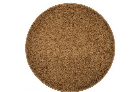 Vopi Kulatý koberec SHAGGY hnědý průměr - 120 cm Koberce a koberečky