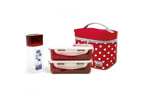 Tečkovaná taška Lunch Boxes červená Chladící boxy a tašky