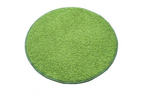 Vopi Kulatý koberec SHAGGY zelený průměr - 120 cm Koberce a koberečky