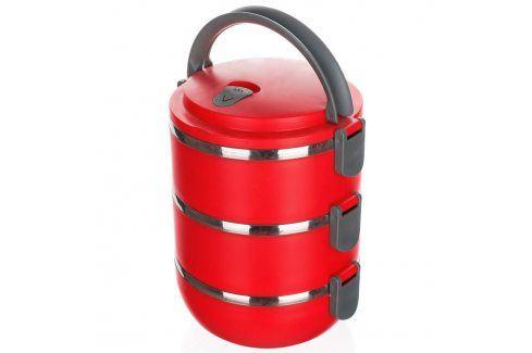 BANQUET Jídlonosič plastový CULINARIA Red 2,1l, 3 díly Jídlonosiče