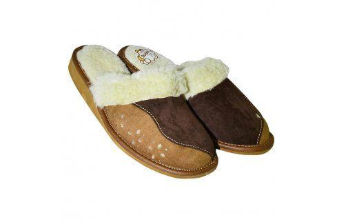 Dámská domácí obuv s koženým svrškem vel. 39 Obuv