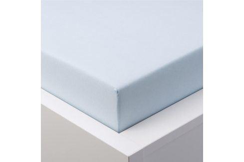 Hermann Cotton Napínací prostěradlo jersey EXCLUSIVE ledově modrá 180 x 200 cm Prostěradla