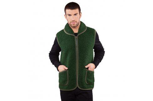 Ovčí věci Pánská lovecká vesta z Merino vlny zelená vel. M Pánské vesty