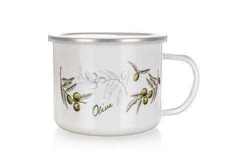 BANQUET Smaltovaný hrnek 0,5 l Olives Hrnky a šálky