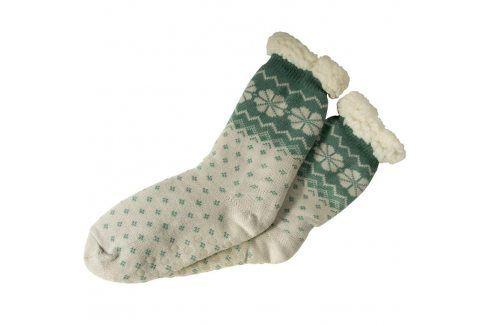 decoDoma Hřejivé ponožky na spaní zelené 35 - 38 Dámské ponožky