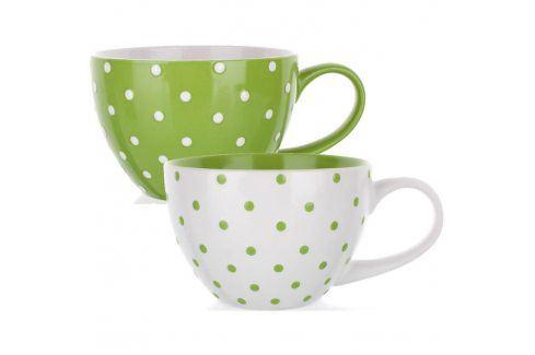 BANQUET Jumbo hrnek zelený s puntíky, assorted 60110800023 Hrnky a šálky