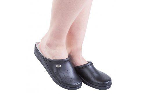 Dámské pantofle s plnou špičkou Comfort Step černé vel. 41 Obuv