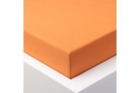 Hermann Cotton Napínací prostěradlo jersey EXCLUSIVE oranžová 90 - 100 x 200 cm Prostěradla jersey