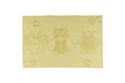 BANQUET Prostírání 45x30 cm OWL, yellow Prostírání