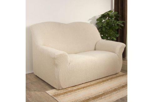 Nueva Textura decoDoma napínací potahy na sedací soupravu multielastický CARLA smetanové na sedačku - dvojkřeslo 140 - 180 cm Přehozy