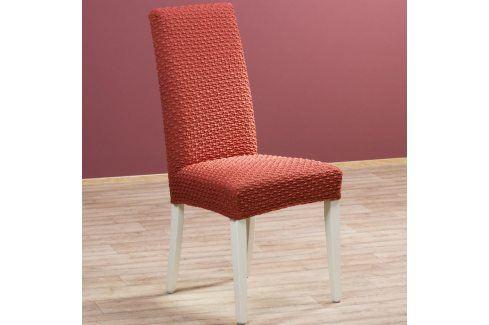 Nueva Textura decoDoma napínací potah multielastický REBECA cihlové židle s opěradlem 2 ks 40 x 40 x 60 cm Přehozy