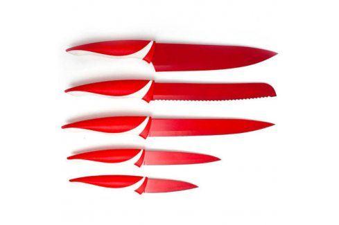 BANQUET 5 dílná sada nožů s nepřilnavým povrchem, SYMBIO Rosso Kuchyňské nože