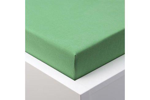 Hermann Cotton Napínací prostěradlo jersey EXCLUSIVE zelená 180 x 200 cm Prostěradla