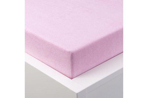 Hermann Cotton Napínací prostěradlo froté EXCLUSIVE růžová 90 - 100 x 200 cm Prostěradla froté