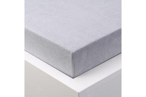 Hermann Cotton Napínací prostěradlo froté EXCLUSIVE platinově šedá 180 x 200 cm Prostěradla