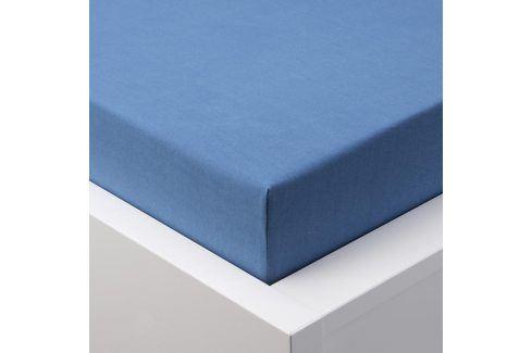 Hermann Cotton Napínací prostěradlo jersey EXCLUSIVE královská modrá 180 x 200 cm Prostěradla