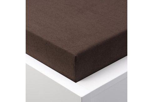 Hermann Cotton Napínací prostěradlo froté EXCLUSIVE čokoládová 180 x 200 cm Prostěradla