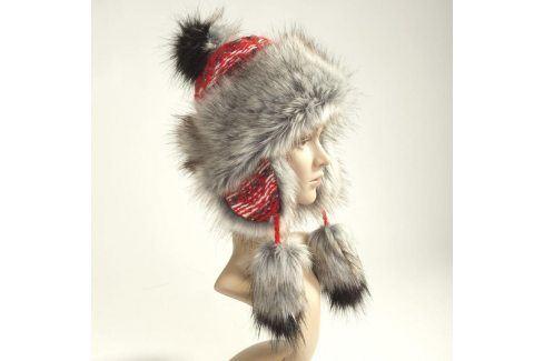 Ovčí věci Dámská zimní čepice červená Zimní čepice