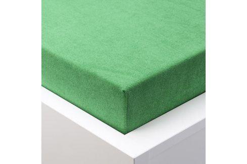 Hermann Cotton Napínací prostěradlo froté EXCLUSIVE zelená 90 - 100 x 200 cm 2 ks Prostěradla froté