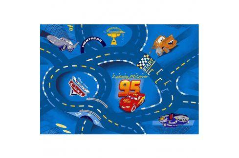 Vopi Dětský koberec World of Cars modrý 80 x 120 cm Koberce a koberečky