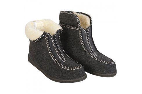 Ovčí věci Zateplené domácí bačkory vel. 45 Domácí boty a pantofle