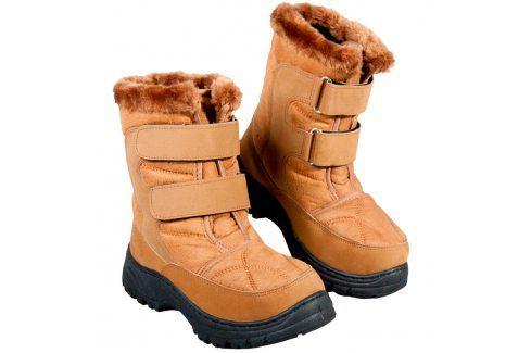Zimní boty s hřejivým beránkem hnědé vel. 36 Dámská obuv