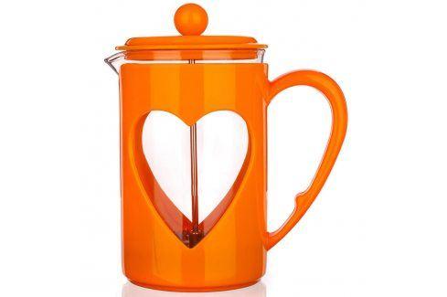 BANQUET Konvice na kávu DARBY 800ml oranžová Čajové konvice