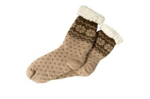 decoDoma Hřejivé ponožky na spaní hnědé 35 - 38 Dámské ponožky