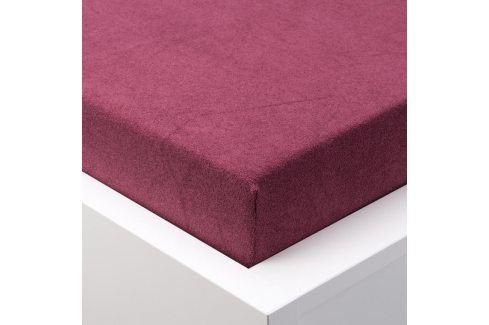 Hermann Cotton Napínací prostěradlo froté EXCLUSIVE bordó 90 - 100 x 200 cm 2 ks Prostěradla froté