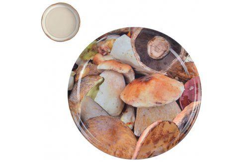 ORION Víčka na zavařovací sklenice 8,2 cm HOUBY 10 ks Dózy na potraviny