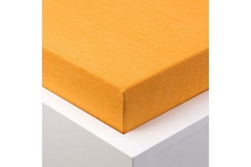 Hermann Cotton Napínací prostěradlo froté EXCLUSIVE oranžová 180 x 200 cm Prostěradla