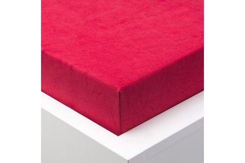 Hermann Cotton Napínací prostěradlo froté EXCLUSIVE červená 180 x 200 cm Prostěradla