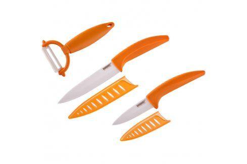 BANQUET 3dílná sada keramických nožů GOURMET CERAMIA ARANCIA Kuchyňské nože