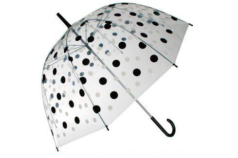 DecoDoma Dámský deštník průhledný s puntíky Deštníky