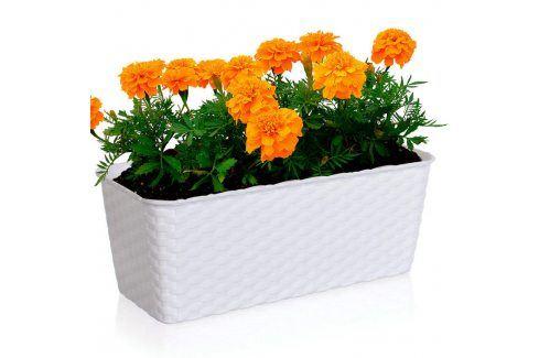 Truhlík samozavlaž.40 cm bílý Květináče a truhlíky