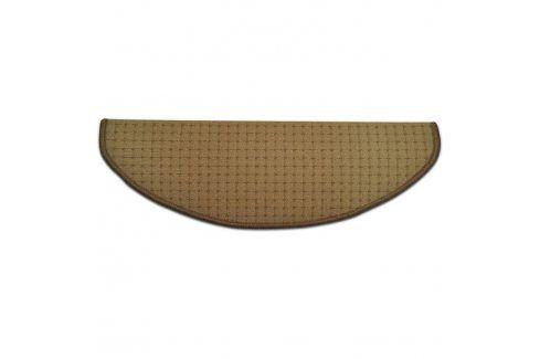 Vopi Koberec na schody půlkruh BIRMINGHAM béžový 25 x 65 cm Koberce a koberečky