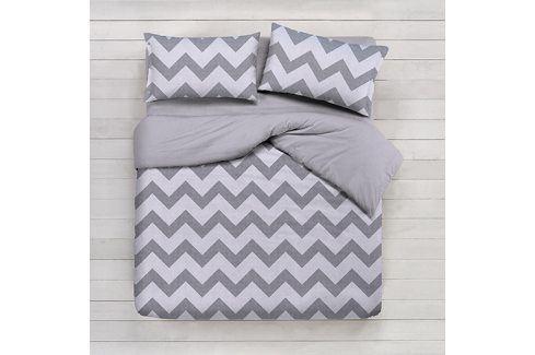 Gipetex Natural Dream povlečení bavlna Lux Chevronne béžová 140x200 70x90 Ložní povlečení