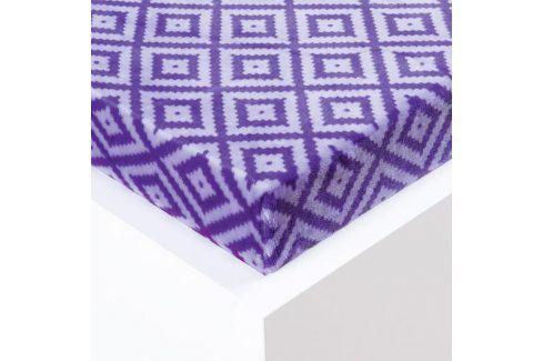 Hermann Cotton Napínací prostěradlo Sebastien mikroplyš fialové 180 x 200 cm Prostěradla