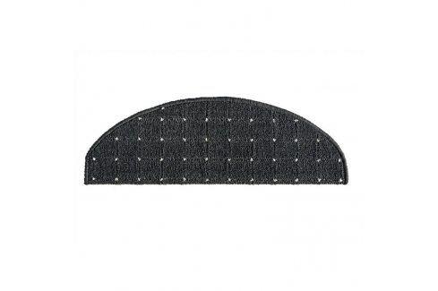 Vopi Koberec na schody půlkruh Udinese antracit 24 x 65 cm Koberce a koberečky