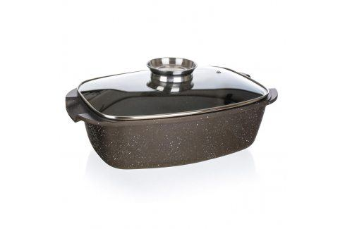 Banquet Pekáč s nepřilnavým povrchem Premium Dark Brown 39,5 x 22 x 11 cm s poklicí s aroma knobem Pečící formy