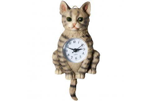 Keramické nástěnné hodiny Kočka Hodiny